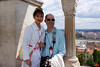 Rosa and Richard on Fisherman's Bastion, Buda Hill, Budapest.<br /> _DSC0104