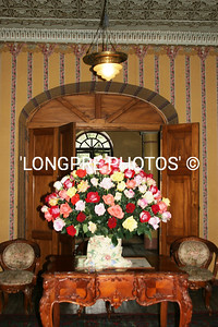 Roses in Gloria's entrance to home.