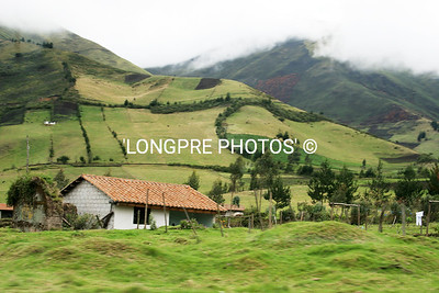 Countryside outside of Quito.