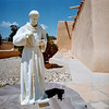 Statue of St. Francis in the courtyard of the church.