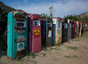 Old gas pumps at the Classical Gas Museum, Dixon, New Mexico