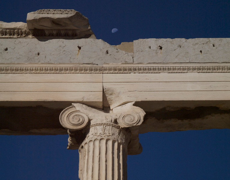 Moonrise over the Acropolis
