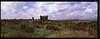 Roman Basilica at Aspendos with clouds
