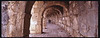 Hallway and arches under the amphitheater at Aspendos