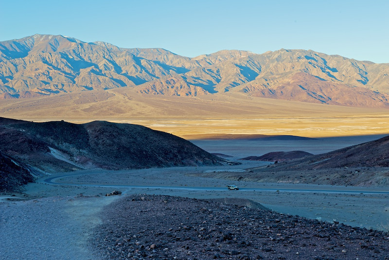 Jeep in Death Valley