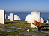 Fort Rosecrans Military Cemetery. Headstones and flowers
