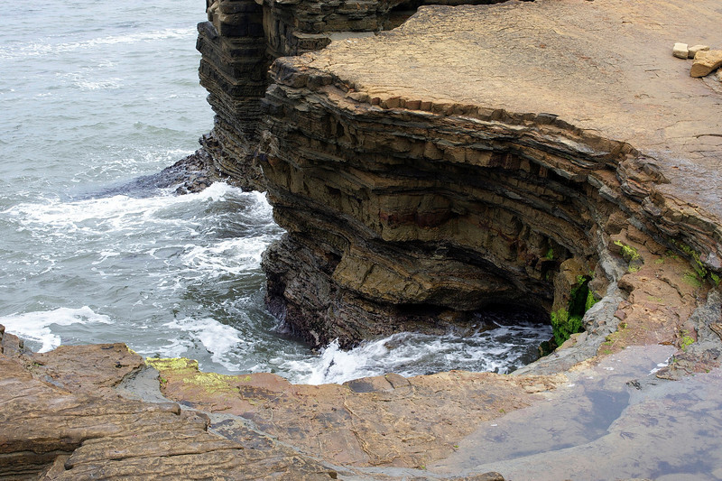 cliff and tidepool