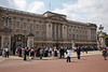 Buckingham Palace, London with crowd of tourists
