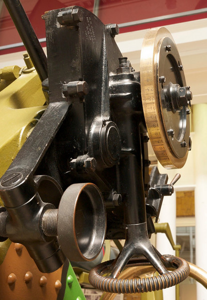 Detail of artillery piece sight circa 1917<br /> Imperial War Museum, London