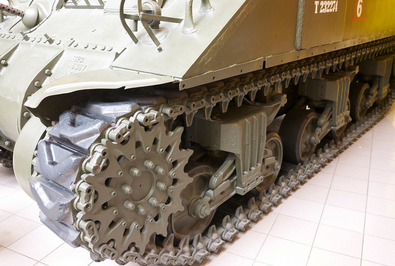 Tracks on personal carrier<br /> Imperial War Museum, London
