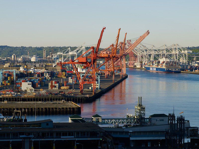 Seattle container dock