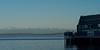 Snow capped Olympics over Elliot Bay