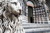 Lion guarding the church door