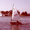David's first sailboat, off Alameda Marina in 1979.