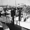 Peter, Annette and David on Photon at Alameda Marina in 1975.