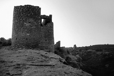 Hovenweep Castle in southeastern Utah, built around 1000-1200 AD by native peoples of the area