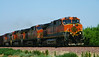 This southbound BNSF intermodal freight followed hot on the heels of San Joaquin 702, running almost as fast.
