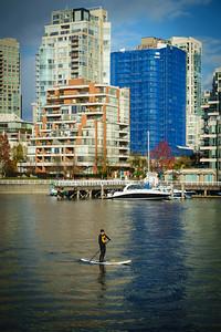 Stand-Up Paddleboarding On False Creek