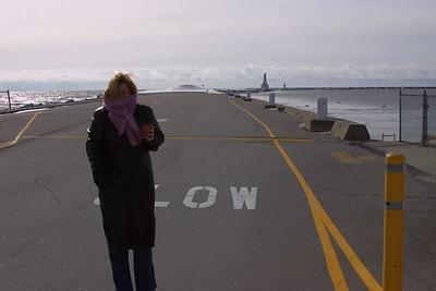 Lauralea on the pier