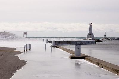 Ice on the pier