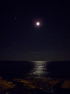 Moon On Lake Ontario