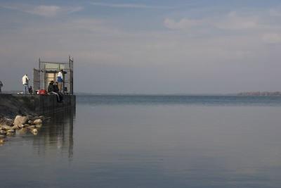 Fishing off the pier, Caesarea