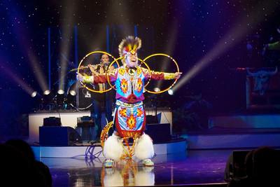 Hoop dancer with Brule, performing in Branson, 10/26/11