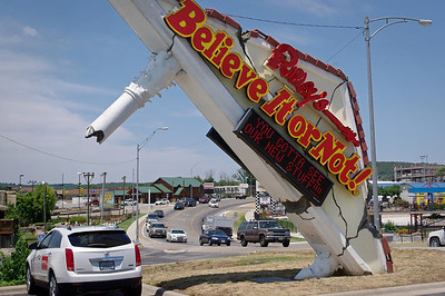 Ripley's Believe It Or Not - sign, with Branson highway 76 in the background.