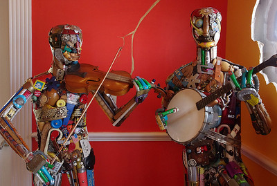 Musicians - life-size sculptures made from bits of discarded items. Ripley's Believe It Or Not Museum, Branson, Missouri.