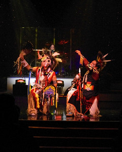 Two Native Americans dancing the Buffalo Dance with Brule, performing in Branson, 10/26/11