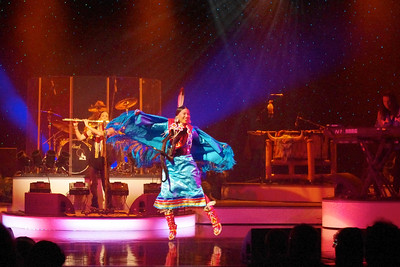 Native American dancer with Brule, performing in Branson, 10/26/11