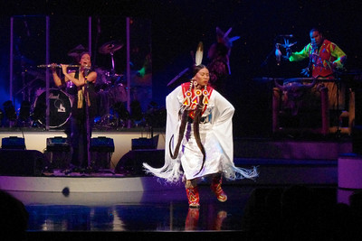 Female Native American dancer with Brule, performing in Branson, 10/26/11