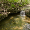 Small waterfall on a tributary of Bryant Creek. Cedar Gap Conservation Area near Mansfield, Missouri.