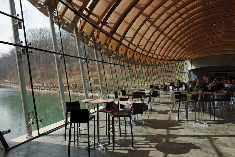 """Elevin"" - the restaurant at Crystal Bridges Museum, Bentonville, Arkansas."