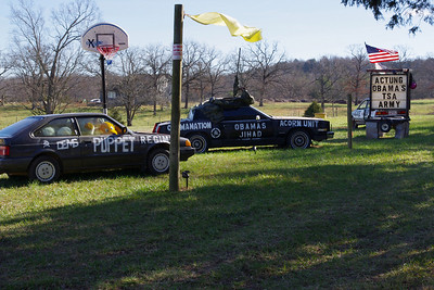 Political statement in mixed media. Arkansas 23, just south of the Missouri ine.