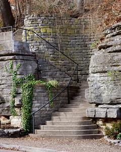 Stone work stairs, Eureka Springs, Arkansas.