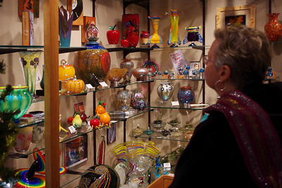 Rita in Zarks, an art glass store in Eureka Springs, Arkansas.