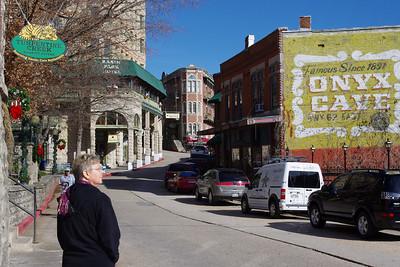 Rita, streets of Eureka Springs, Arkansas.