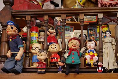 Toy shop figurines, Eureka Springs, Arkansas.