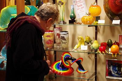 Zarks - an art glass store in Eureka Springs, Arkansas.