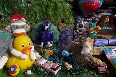 Toy store window, Eureka Springs, Arkansas.