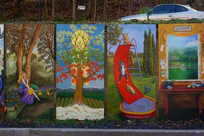 Murals, Eureka Springs, Arkansas.