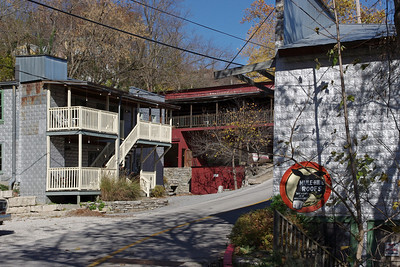 Back street, Eureka Springs, Arkansas. 11/11/2011