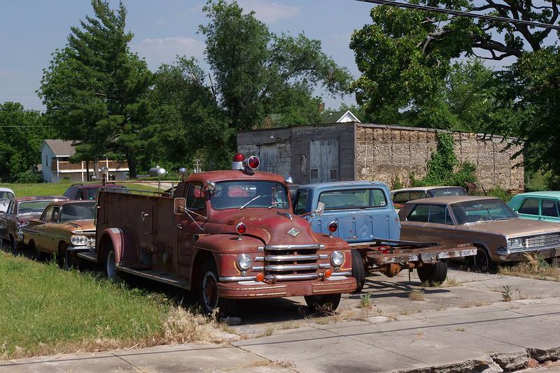 Old fire truck, Everton, Missouri. May 2012