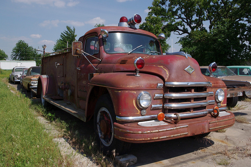 Old fire truck, Everton, Missouri. May 2012