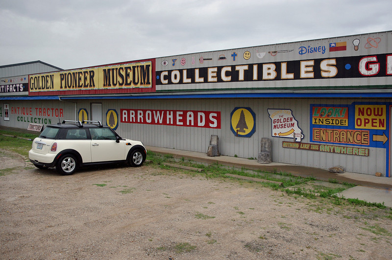 Golden Pioneer Museum on Highway 86 in Golden, Missouri. Doesn't look like much from the outside, but there is plenty to see on the inside.