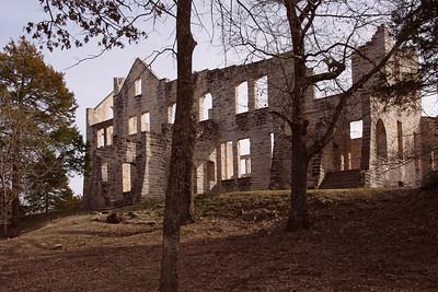 Mansion ruins at Ha Ha Tonka State Park near Camdenton, Missouri.