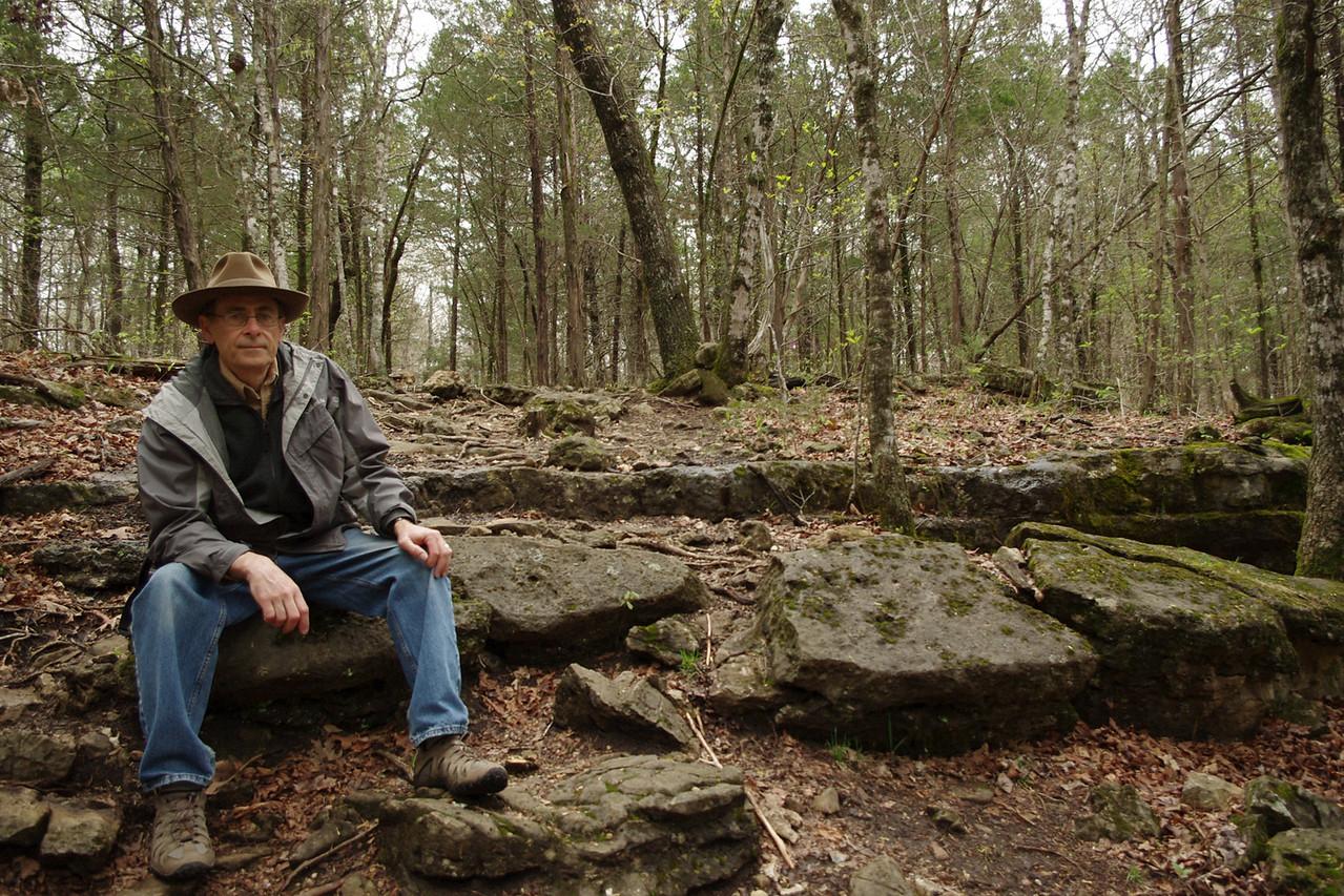 Gary, Homesteader's Trail, Henning Conservation Area, near Branson, Missouri.
