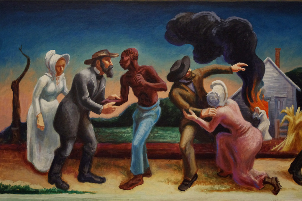"Detail, ""Social History of Missouri"" painted by Thomas Hart Benton in the House Lounge of the Missouri State Capitol."