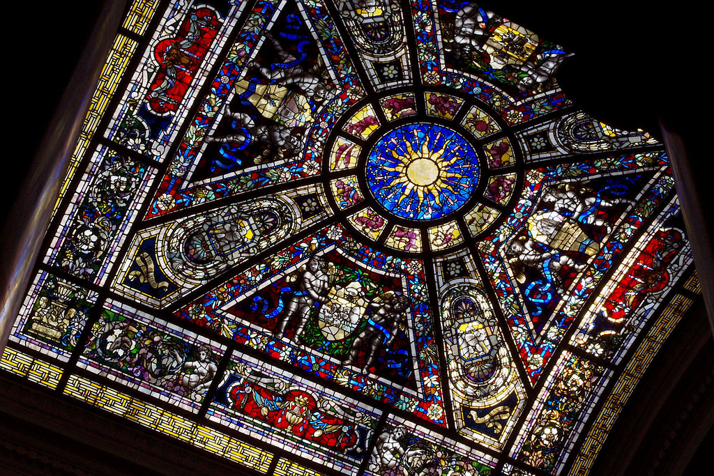 Stained glass skylight, Missouri State Capitol Building.
